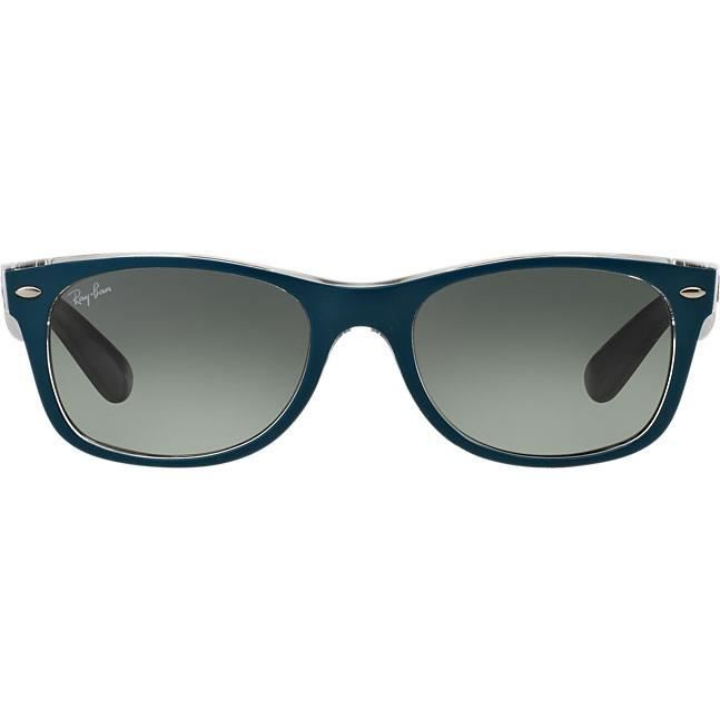 Lunettes de Soleil RAY-BAN New Wayfarer RB2132 619171 TOP MT PETROLEUM ON  GREY T 55 6ade36d9edbe