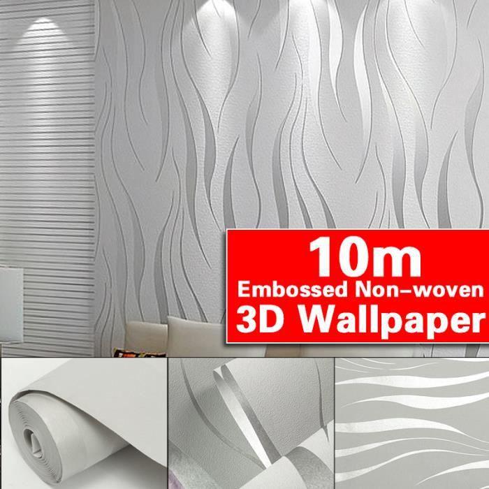 Paillettes Vague Wallpaper-Collez Le mur-Platinum Sparkle-en Relief Texture