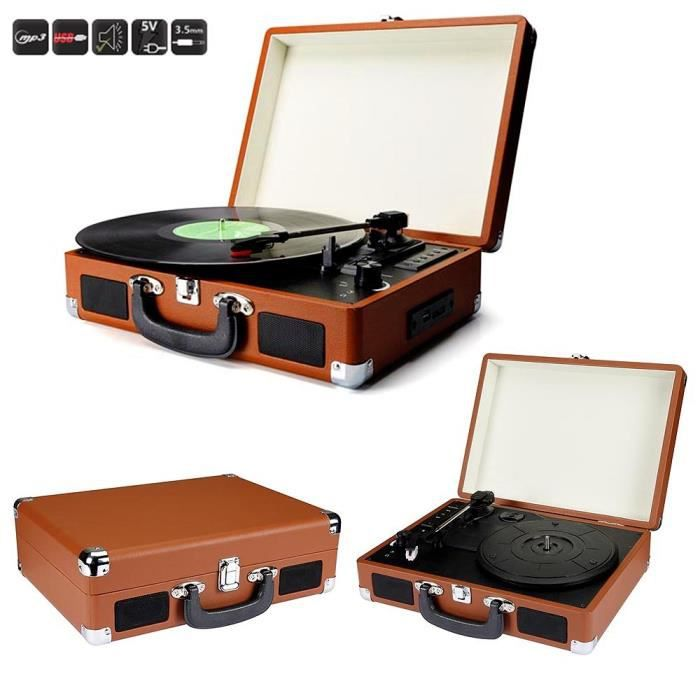 platine vinyle r tro enregistreur num rique usb sd mp3 orange platine vinyle avis et prix pas. Black Bedroom Furniture Sets. Home Design Ideas