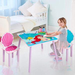 Kit de Table et Chaise pour Enfant 1 Table en Forme de la Lune et 1 Chaise d/'/Étoile pour Manjer Jouer et /Étudier Table pour Enfants Table denfant Multifonctionnel Rose