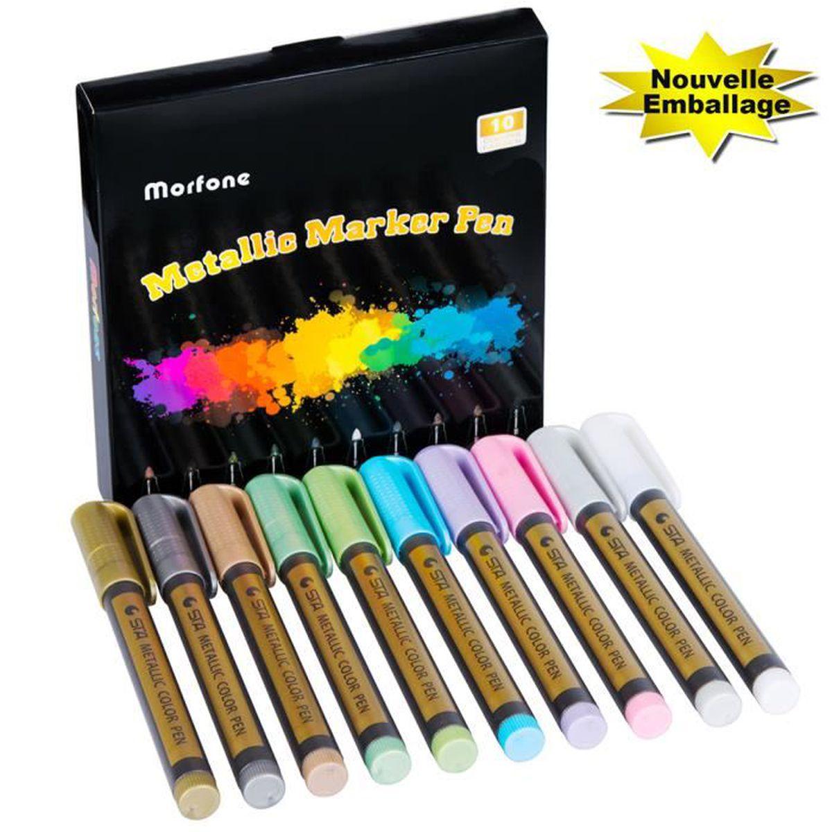 Metallic marqueur permanent stylos or argent artisanat tissu en céramique Carte Cadeaux Arts