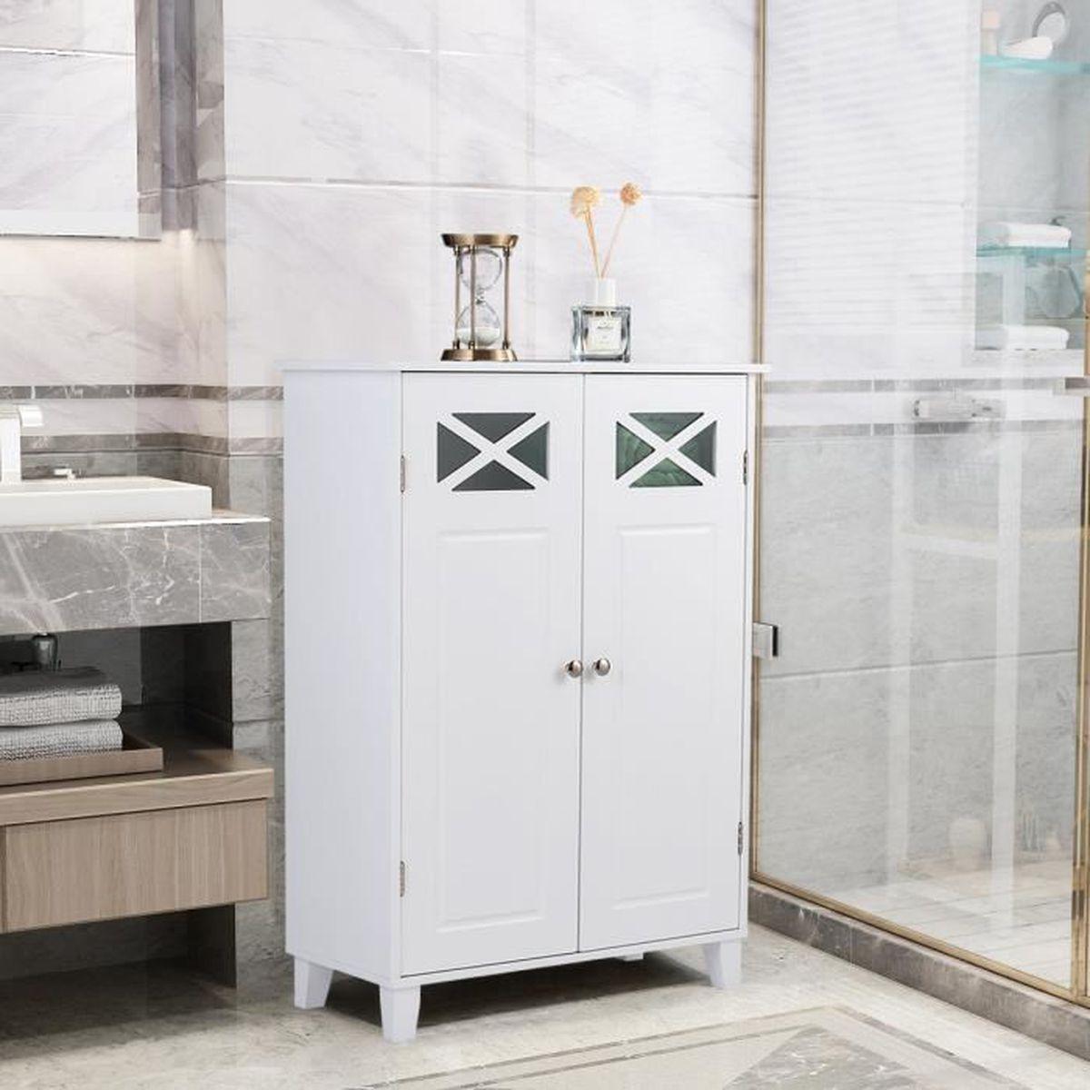 Difference Blanc Brillant Et Blanc Laqué meuble de salle de bain bas blanc laque