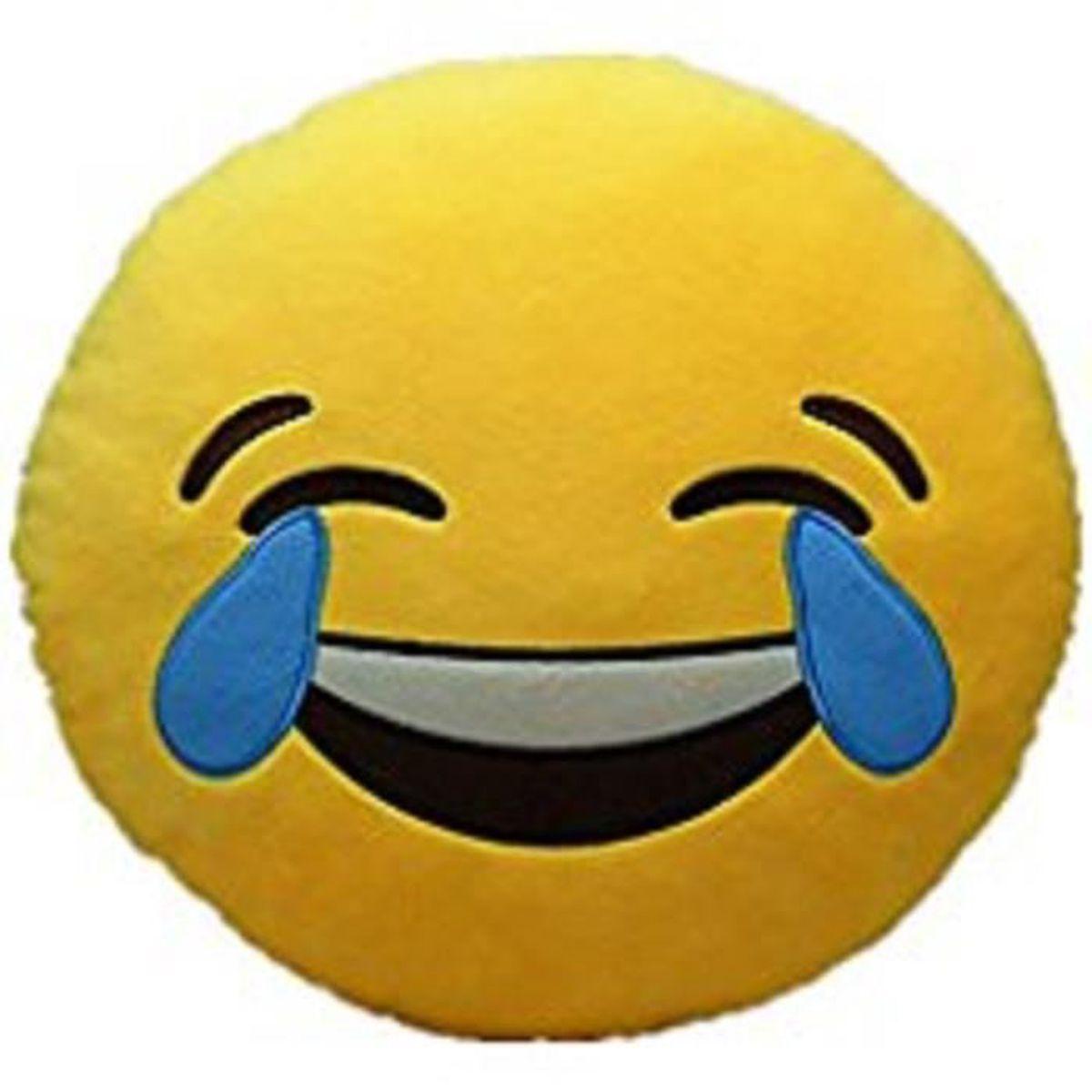 Coussin Emoticone Emoji Pleurer De Rire 32 Cm Achat Vente Coussin Cdiscount