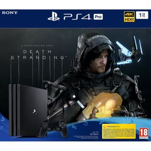 CONSOLE PS4 Console PS4 PRO - 1To Black - Death Stranding Jeu