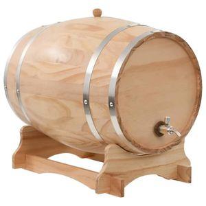 WHISKY BOURBON SCOTCH VAGUE 35 L Tonneau à vin avec robinet Pin massif