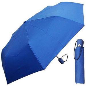 DORRISO Homme Femme Automatique Parapluie Pliant Bois-Poign/ée Coupe-Vent Imperm/éable Anti-UV Ombrelle Portable /étanche Parapluie Voyage Bleu A