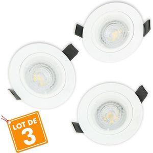 SPOTS - LIGNE DE SPOTS Lot de 3 Spot LED encastrable complet 1/4 de tour