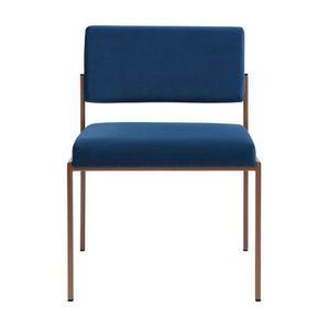 CHAISE Chaise vintage en velours bleu Bleu