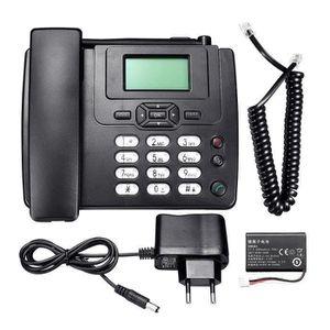 Téléphone fixe TEMPSA Téléphone sans Fil de Bureau GSM Téléphone
