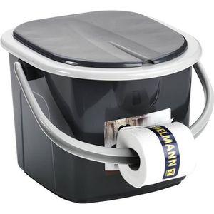 Toilette WC de Camping Portable Portatif Seau 22L Voyage Rando Confort Ergonomie