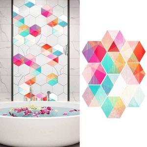 10pcs Salle De Bains Cuisine Coloré Carrelage Hexagonal Autocollant Antidérapant Mur Décor G01a16