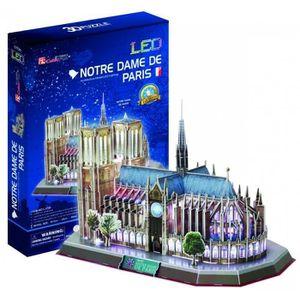 PUZZLE Notre Dame de Paris Puzzle 3D avec LED Lumière 149