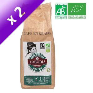 CAFÉ LOBODIS Café gain pur Arabica Bolivie Bio - 500 g