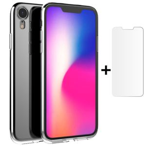 COQUE - BUMPER Coque iPhone Xr,Etui Transparent Gel Silicone TPU