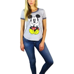 T-SHIRT DISNEY mickey mouse burnout t-shirt pour femme chi