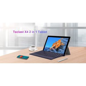 TABLETTE TACTILE Tablette Tacticle 2 en 1-Teclast X4 Tablet Laptop