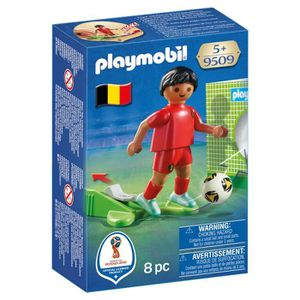 UNIVERS MINIATURE PLAYMOBIL 9509 - Joueur de foot Belge, Multicolore