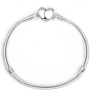 BRACELET - GOURMETTE Bracelet Serpentine Coeur Style Pandora Nu à Charm