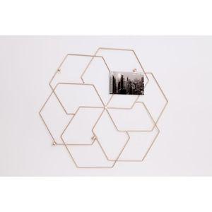 CADRE PHOTO Cadre photo métal géométrique - 56x51 cm