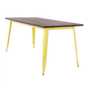TABLE À MANGER SEULE Table LIX en Bois (160x80) Jaune Bois Foncé