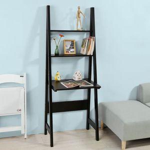 MEUBLE ÉTAGÈRE SoBuy® FRG60-Sch Table Bureau étagère style échell