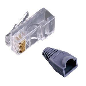 CÂBLE RÉSEAU  50 RJ45 connecteurs modulaires Prises +50 Bottes C