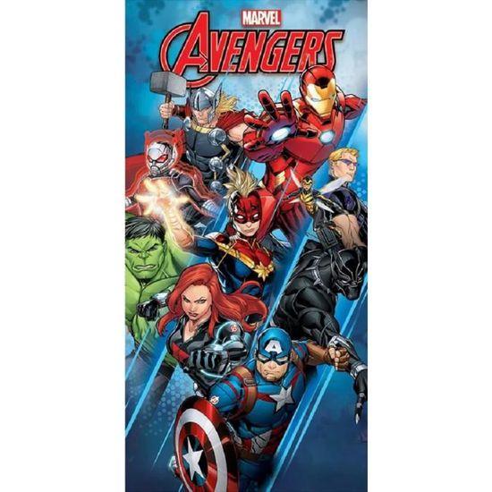 Drap de plage ou Serviette de bain Avengers Marvel