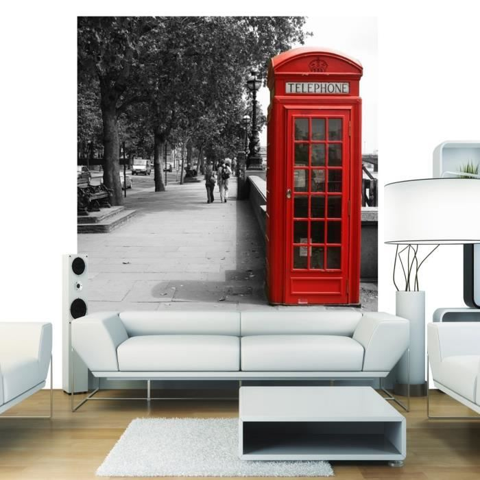 london phone papier peint d co intiss 250x250cm achat vente papier peint papier peint. Black Bedroom Furniture Sets. Home Design Ideas