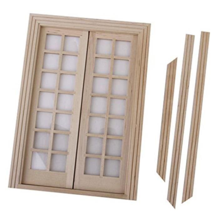 1:12 Mini porte de maison petite extérieure miniature intérieure en bois VEHICULE A CONSTRUIRE - ENGIN TERRESTRE A CONSTRUIRE