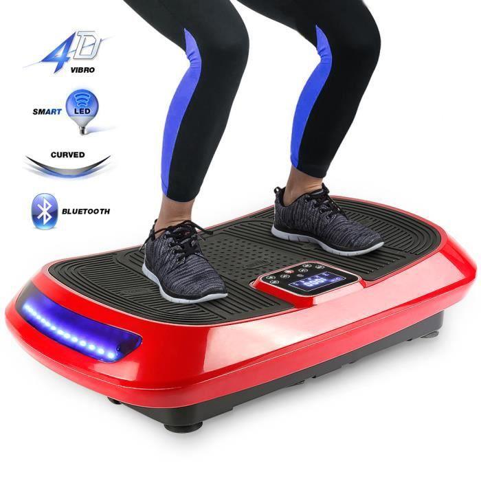 Fitness Plateforme Vibrante et Oscillante Ultra Slim - Perte de poids & Brûleur de Graisses à la Maison - Bluetooth 4D