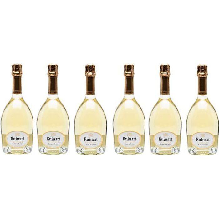 Lot de 6 Champagnes Ruinart Blanc de Blancs