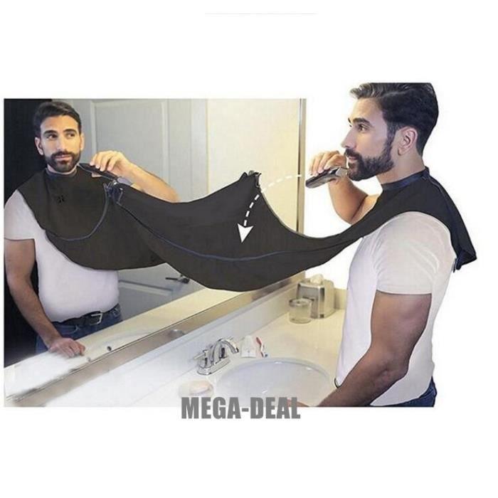 Mega-Deal Tablier de barbe, bavoir à barbe, Cape de barbe pour faciliter la Rasage et ne sporcare le lavabo chaque fois que se coupe