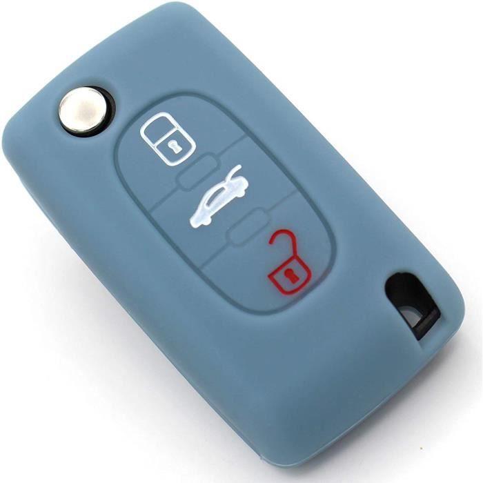 coque clés pour 3 coque PASE clé de voiture coque de silicone des plus belles-folia (cendres)