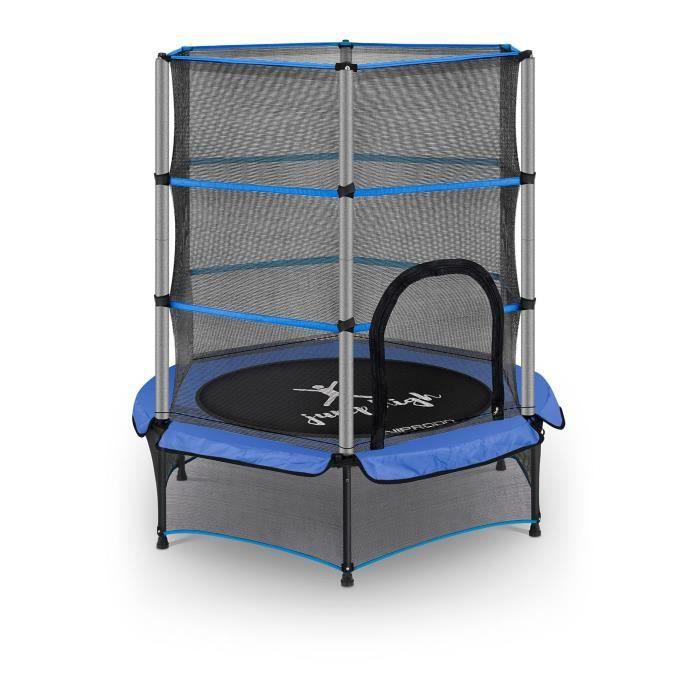 Trampoline pour enfants de jardin d'extérieur et d'intérieur Uniprodo diamètre 140cm Bleu