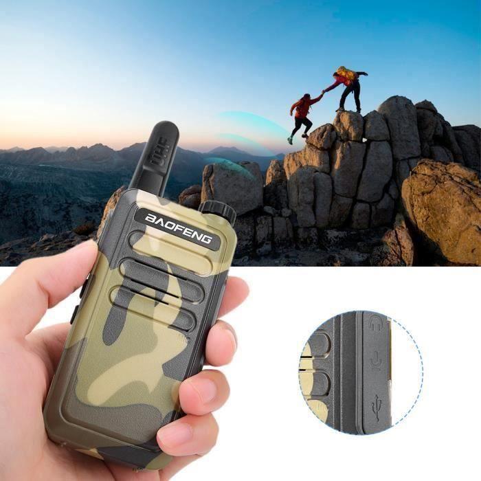 Mini talkie-walkie radio bidirectionnel HD ultra-mince et anti-interférences (modèle H)