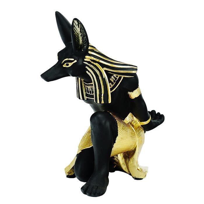 Figurines en résine du dieu Anubis, utilisées pour les casiers à vin, les sculptures de décoration de maison et de bureau