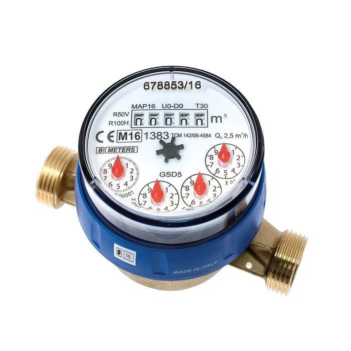 B Meters Compteur d'eau à cadran sec GSD5 1-2-