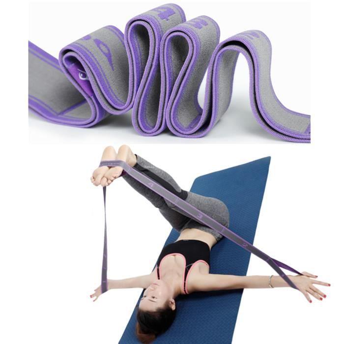 Sangle de Yoga Elastique Musculation Fitness Sport pour Adultes Ceinture Bandes de résistance élastique danse elastiband corde ruban