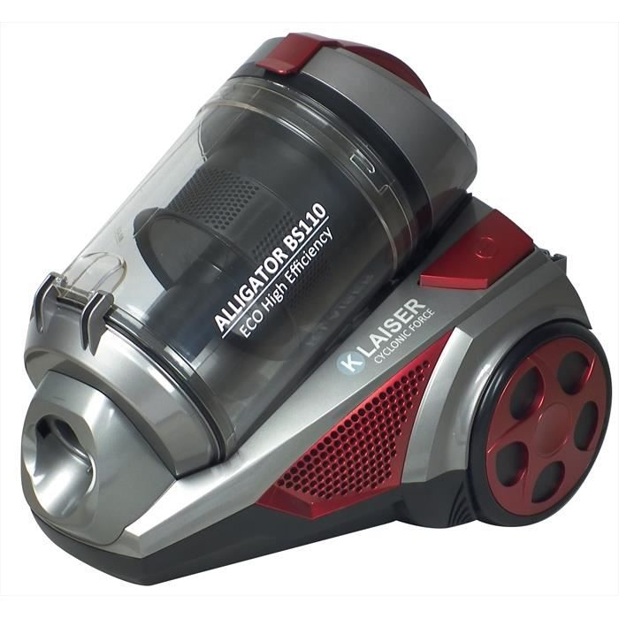 KLAISER - 1600W - Aspirateur Sans Sac Multi Cyclone Alligator Xtreme Force - Pure Air - Ultra Confort - Cordon Extra Long 7 Mètres