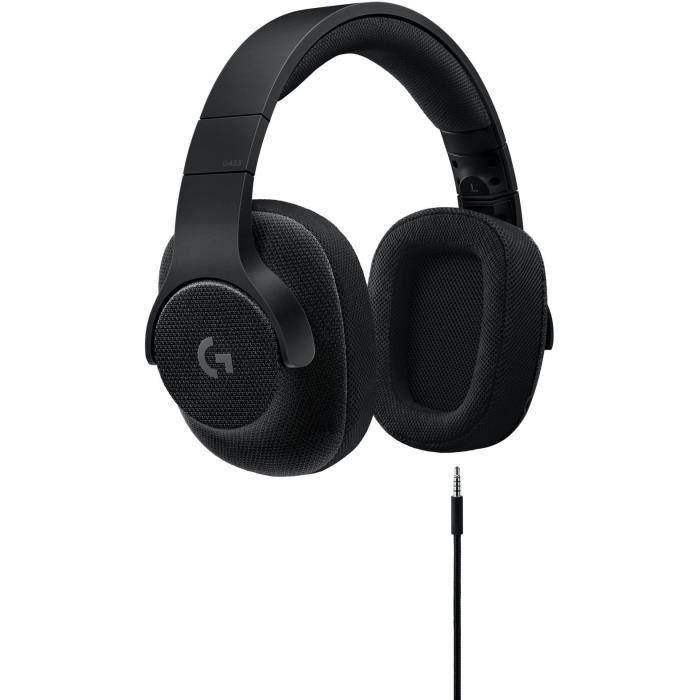 LOGITECH Micro Casque Gamer G433 Noir - Pour PC, PS4, Xbox One et Nintendo Switch