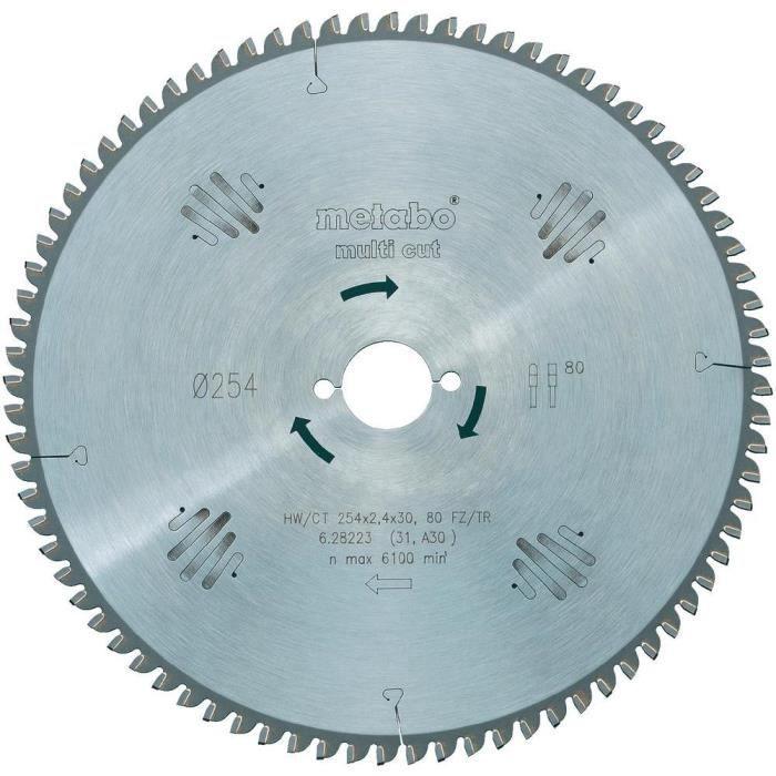 METABO Lame de scie circulaire Multi cut 216 mm - 60 dents - Scies à onglets et radiales