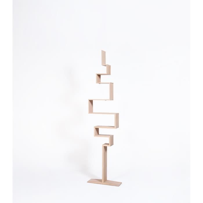 -Bibliothèque chêne design-Chêne massif