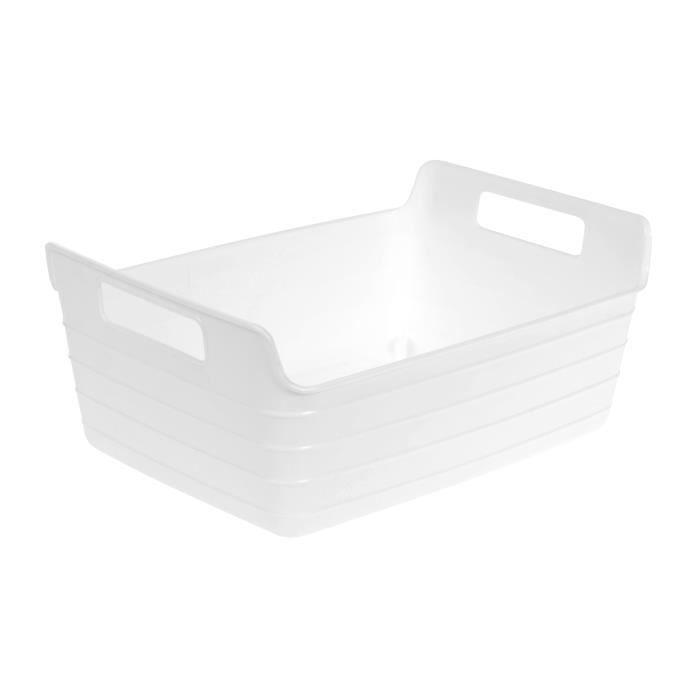 Panier souple plastique 2 anses blanc (L.28cm)