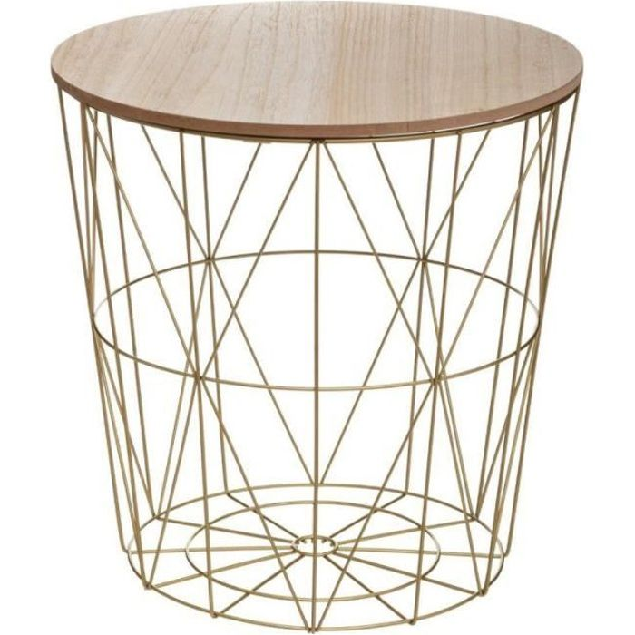 Table d'Appoint Design -Kumi- 41cm Or