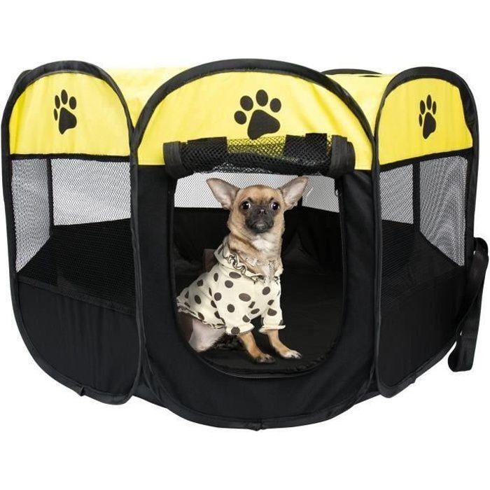 MKISHINE® Parc à Chiots Chiens, Cage de Chien Octogonal Petits Animaux ,enclos pour animaux Pliable,Chien Pet Playpen
