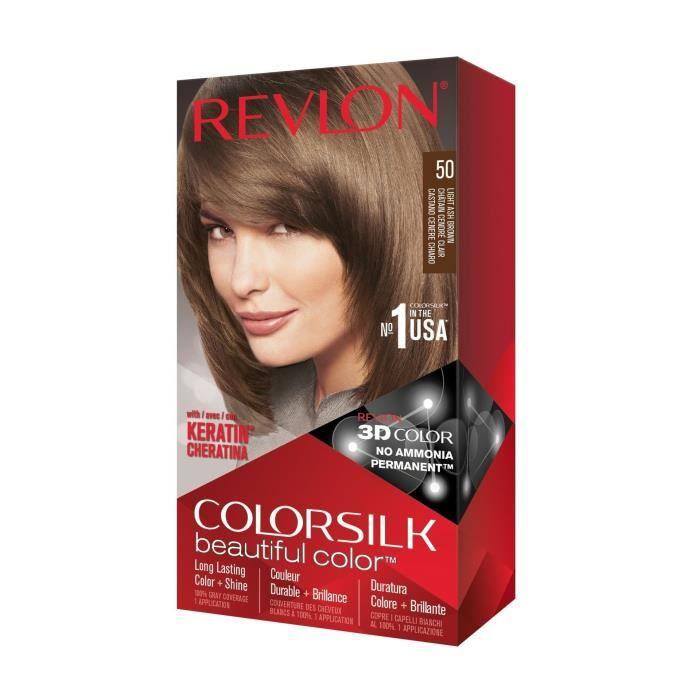 COLORSILK Coloration N°50 - Châtain cendré clair - 59,1 ml