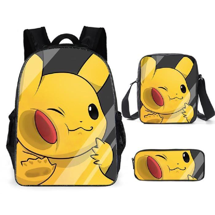 Pokémon Sacs D'école Cool Garçons Filles Anime Elfe Pikachu Sac À Dos Scolaire Enfants Backpack A10