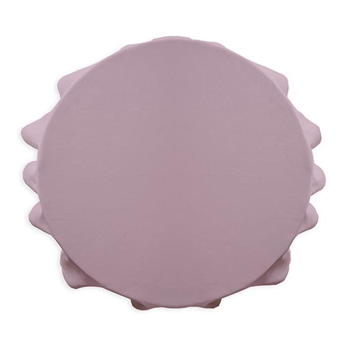 Nappe ronde polyester FAMILY 180cm Poudre de Lila