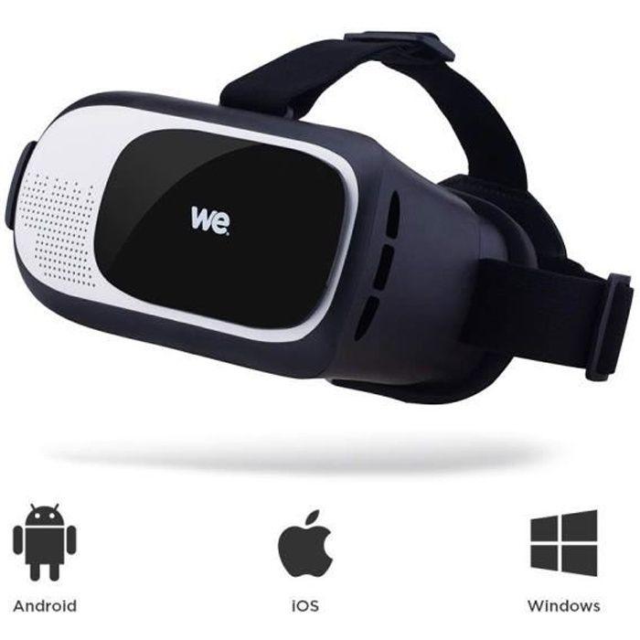 WE Casque VR pour Smartphone - Lunette 3D Jeux vidéo Lunettes pour 3,5- - 6- Compatible iPhone Samsung Huawei Oneplus