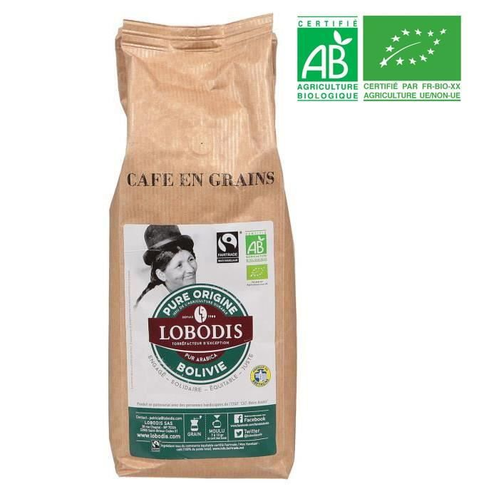 Café Grains Bolivie Bio Equitable LOBODIS 500g